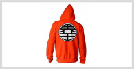 Sudadera naranja de Dragon Ball