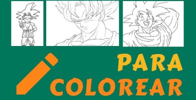 dibujos Goku para colorear