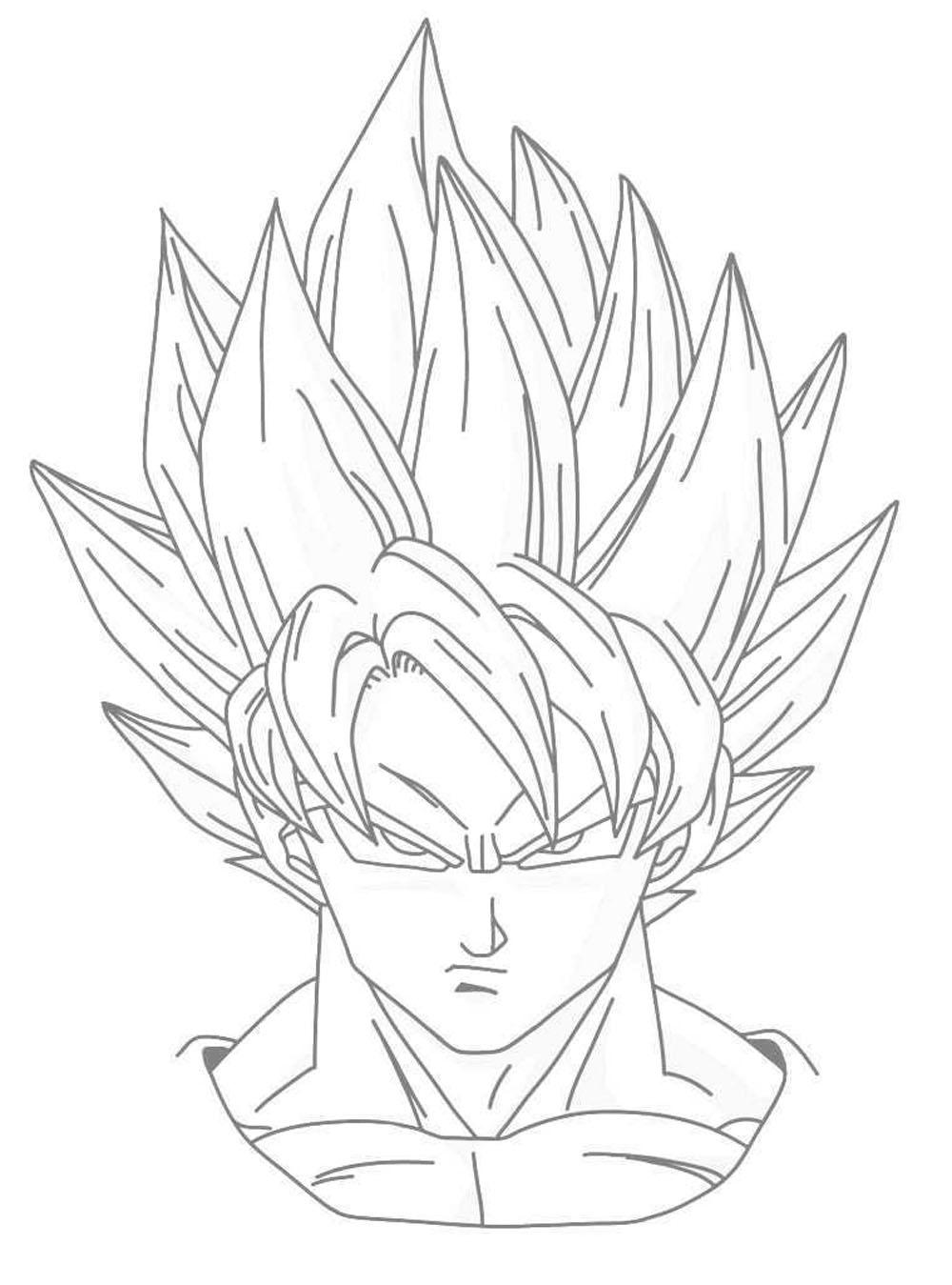 ᐈ Colorea A Goku Dibujos Para Pintar Degokunet