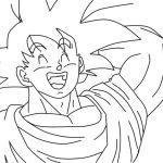Son Goku riendo