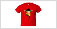 camiseta roja gohan niño la tostadora