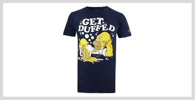 Carl = Black Inspirada en los Simpson Foreverdai Camiseta Lenny = White
