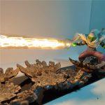 Lámpara Led con figura de Piccolo 3D lanzando su makankosappo